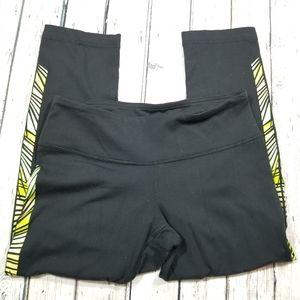 Lululemon black and green leggings